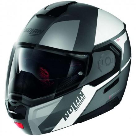 Nolan casco modulare N90-3 Wilco N-Com - 016 Nero Grigio Opaco