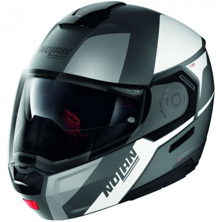 Nolan casco modulare N90-3 Wilco N-Com - 28 Nero Grigio Opaco