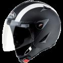 Airoh casco jet JT color Bicolor - Black Matt/White - taglia XS