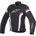 Alpinestars Stella T-gp Plus R V2 Air lady jacket - 1239 BlackWhiteFucsia
