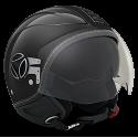 Momo Design casco jet Avio P6 Pro Carbon - Black carbon/Out Silver