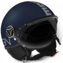 Momo design Fgtr Evo jet helmet - Blue Matt Silver