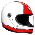 Agv casco vintage integrale Legend X3000 Super - Rosso/Bianco taglia MS