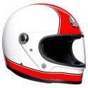 Agv Legend X3000 Super vintage full face helmet - Red/White