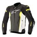 Alpinestars Missile Tech-Air leather jacket - 1260 black white yellowFluo