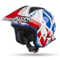 Airoh casco trial Trr S Convert - Blue Gloss
