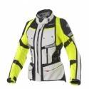 Clover Gts-4 wp Airbag lady jacket - Grey/YellowFluo