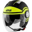 Givi 11.1 Air Jet-R Round jet helmet - MattBlack/Yellow