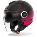 Airoh Helios Map casco jet - Pink Matt