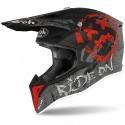 Airoh casco motocross Wraap Smile - Red Matt -taglia L