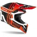 Airoh casco motocross Wraap Broken - Orange matt taglia S