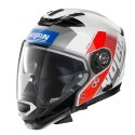Nolan N70-2 Gt Celeres N-Com casco componibile - 33 Metal White -Taglia L