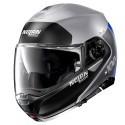 Nolan casco modulare N100-5 Plus Distinctive N-Com 30 Flat Silver