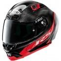 X-Lite casco integrale X-803 RS Ultra Carbon - Hot Lap 013 NeroRosso