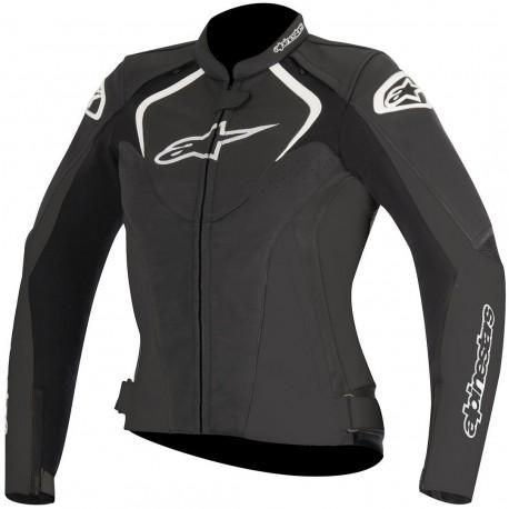 Alpinestars giacca in pelle stella JAws nero