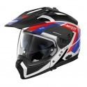 Nolan casco componibile N70-2 X Grandes Alpes N-Com - 26 Metal White